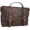Frye Logan Flap Briefcase Dark Brown - Hand bag - $478.00