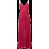 Fuchsia Plumetis Paneled Midi Dress - Vestiti -
