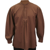 Fundamental Work Shirt - Chocolate - Long sleeves shirts -