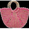 Fushia Straw Tote Bag - Hand bag -