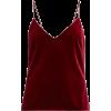 GALVAN V-neck velvet camisole - Tanks -