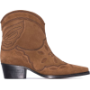 GANNI Brown Low Texas 40 suede ankle boo - Boots -