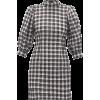 GANNI  Puff-sleeve cotton-blend gingham- - Vestiti -