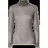 GANNI Puppytooth stretch-mesh turtleneck - Hemden - lang -