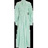 GANNI Smocked Stripe Cotton Midi Dress - Vestidos -