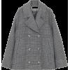 GANNI charcoal grey short coat - Kurtka -