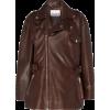 GANNI leather biker jacket - Jacket - coats -