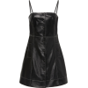 GANNI leather mini dress - sukienki -
