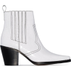 GANNI white Callie 80 leather ankle boot - Boots -