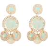 GAS BIJOUX Illusion Hammered Disc Drop E - Earrings -