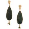 GAS BIJOUX Serti Goutte teardrop earring - Earrings -