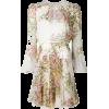 GIAMBATTISTA VALLI chiffon floral dress - ワンピース・ドレス -