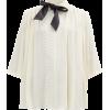 GIAMBATTISTA VALLI Pussybow lace-trimmed - Košulje - kratke -
