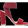 GIANVITO ROSSI Hailee suede sandals - Sandalias -