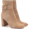 GIANVITO ROSSI Leyton 85 suede ankle boo - Buty wysokie -