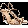 GIANVITO ROSSI Manhattan metallic leathe - Sandals -