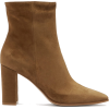 GIANVITO ROSSI Square-toe 85 suede ankle - Boots -