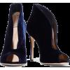 GIANVITO ROSSI Vamp velvet ankle boots - Buty wysokie -