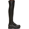 GIANVITO ROSSI black over-the-knee boots - Čizme -