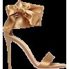 GIANVITO ROSSI golden sandal - Sandale -