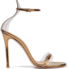 GIANVITO ROSSI metallic leather sandals - Sandals -