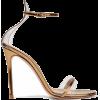 GIANVITO ROSSI metallic leather sandals - Sandálias -