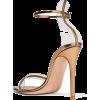 GIANVITO ROSSI metallic leather sandals - Sandals -