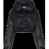 GIVENCHY black cropped puffer coat - Kurtka -