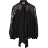 GIVENCHY silk and lace black blouse - Shirts -