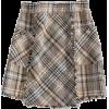 GOODNIGHT MACAROON neutral plaid mini - Suknje -