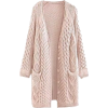 GOODNIGHT MACAROON pink cable knit - 开衫 -