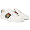 GUCCI Ace Watersnake-Trimmed Embroidered - Sneakers - $670.00