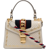 GUCCI Beige Sylvie Moon And Stars Leathe - Hand bag -