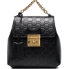 GUCCI Black GG Padlock Leather Backpack - Mochilas -