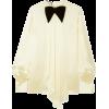 GUCCIBow-detailed draped silk-blend sati - Long sleeves shirts -