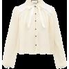 GUCCI  Chantilly-lace and silk-chiffon b - 长袖衫/女式衬衫 -