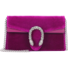 GUCCI Dionysus velvet and leather clutch - Carteras tipo sobre -