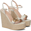 GUCCI Double GG leather espadrille wedge - Wedges -