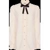 GUCCI Embellished silk blouse - Camisas manga larga -