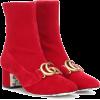 GUCCI Embellished velvet ankle boots - Boots -