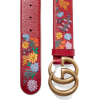 GUCCI Embroidered textured-leather belt - Belt - $795.00