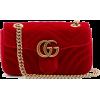 GUCCI GG Marmont mini quilted-velvet cro - Schnalltaschen -