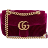 GUCCI GG Marmont mini quilted-velvet cro - Clutch bags -