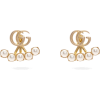 GUCCI GG-logo and detachable faux-pearl - Earrings -