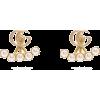 GUCCI GG-logo and detachable faux-pearl - Aretes -