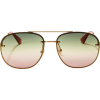 GUCCI Glitter Aviator Sunglasses - 墨镜 -