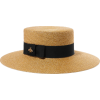 GUCCI Grosgrain-trimmed glittered straw - Cappelli -