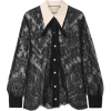 GUCCIGrosgrain-trimmed pussy-bow lace bl - Long sleeves shirts - $1,125.00