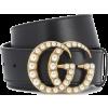 GUCCI Gürtel aus Leder mit Zierperlen - Belt -