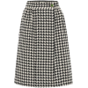 GUCCI Houndstooth wool and cotton skirt - Skirts -